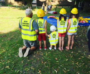 3 mini digger parties