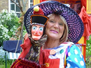Mrs B. with Mr Punch at Covent Garden