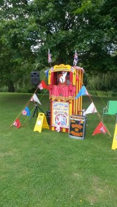 Punch & Judy set up